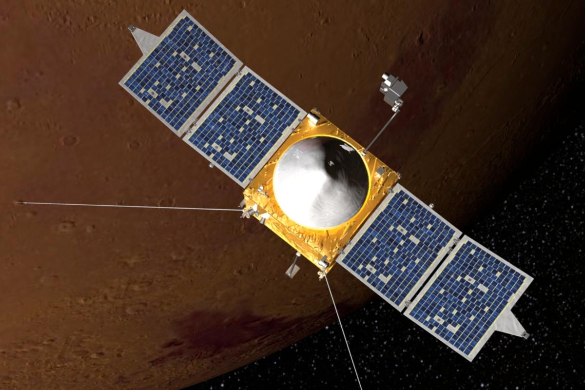 Artist's impression of the MAVEN spacecraft (Image: NASA)