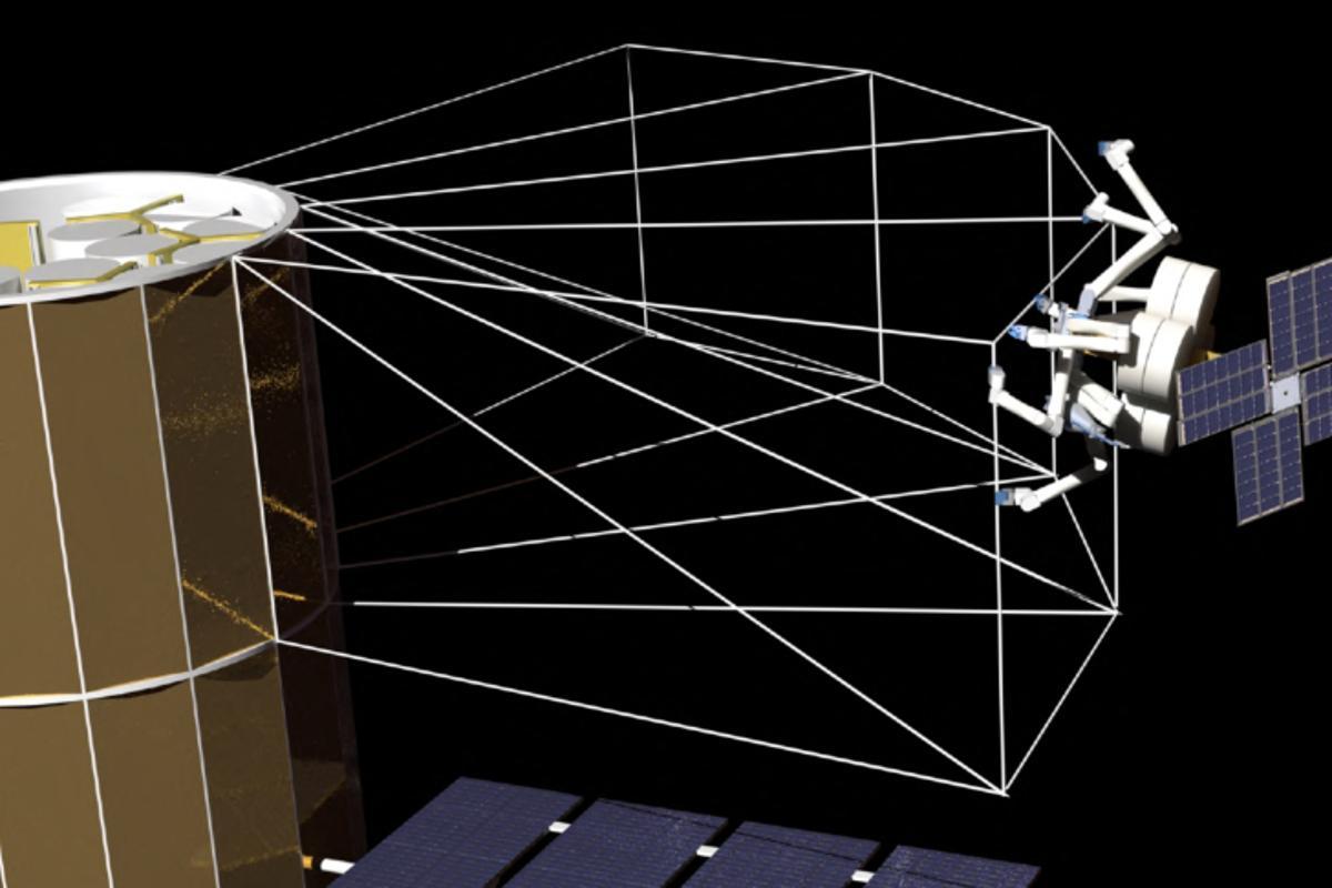 SpiderFab construction of starshade (Photo: TUI)