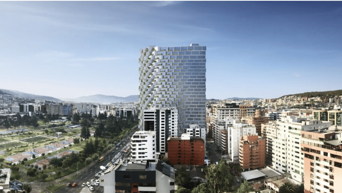 BIG's first footsteps in SouthAmerica will plant a residential tower close to the equator