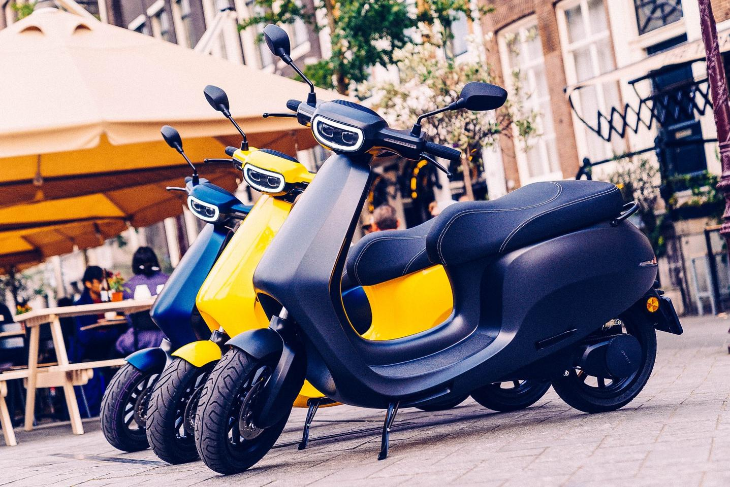 The AppScooter is due for release in Europe in the second half of 2019, with color options including yellow and blue