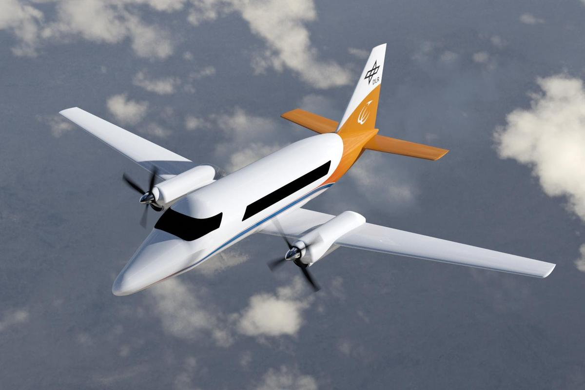 Artist's concept of a hybrid-electric commuter aircraft