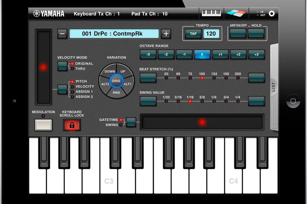 Yamaha's Arp & Drum app for iPad