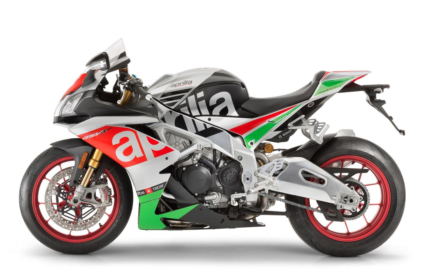 The new Aprilia RSV4 Factory features a plethora of new electronic controls with on the fly adjustments