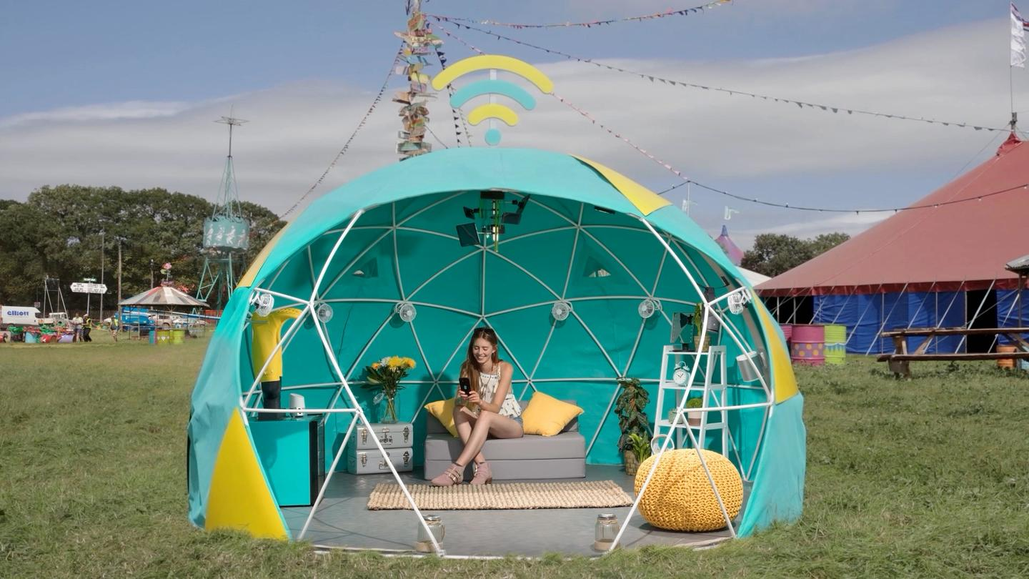 EE is running a competition for Glastonbury-goers to win a night in the 4GEE Smart Tent, along with a Google Pixel phone and a backstage pass