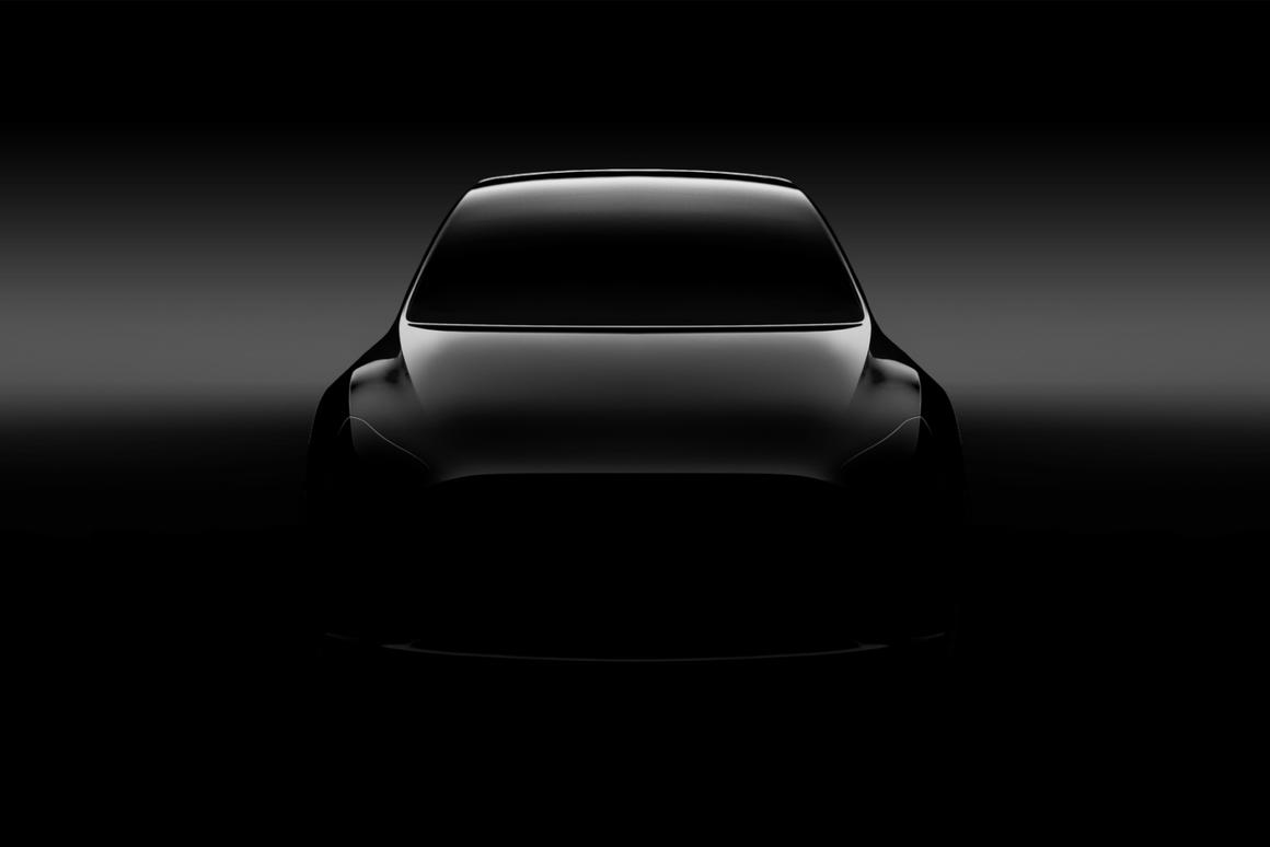 Model Y teaser image first shared by Tesla in 2017