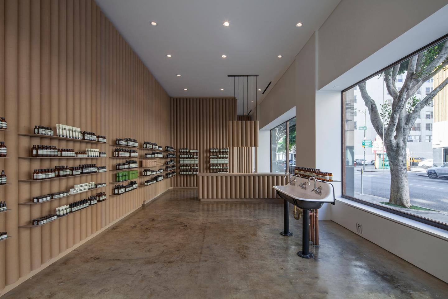 Aesop DTLA was designed by Brooks + Scarpa, and is located in Los Angeles, California