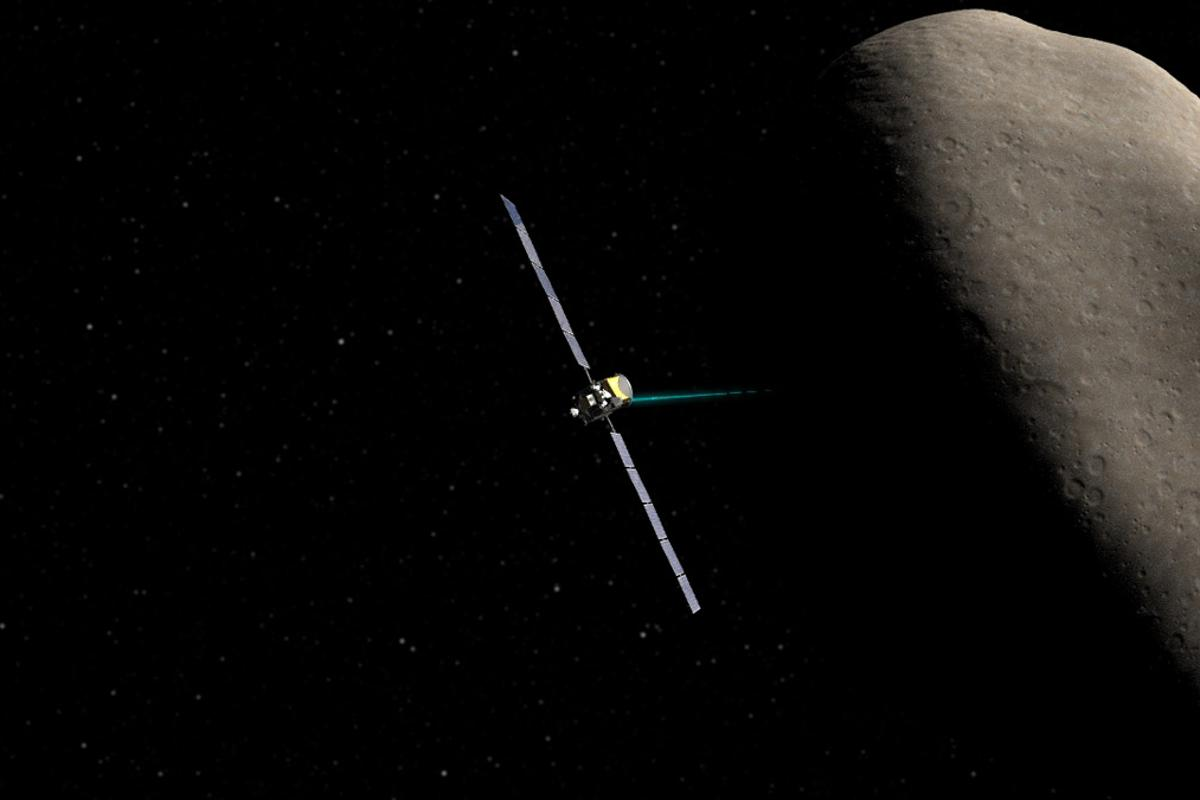 Artist's impression of Dawn orbiting the dwarf planet Ceres (Image: NASA/JPL-Caltech/UCLA)