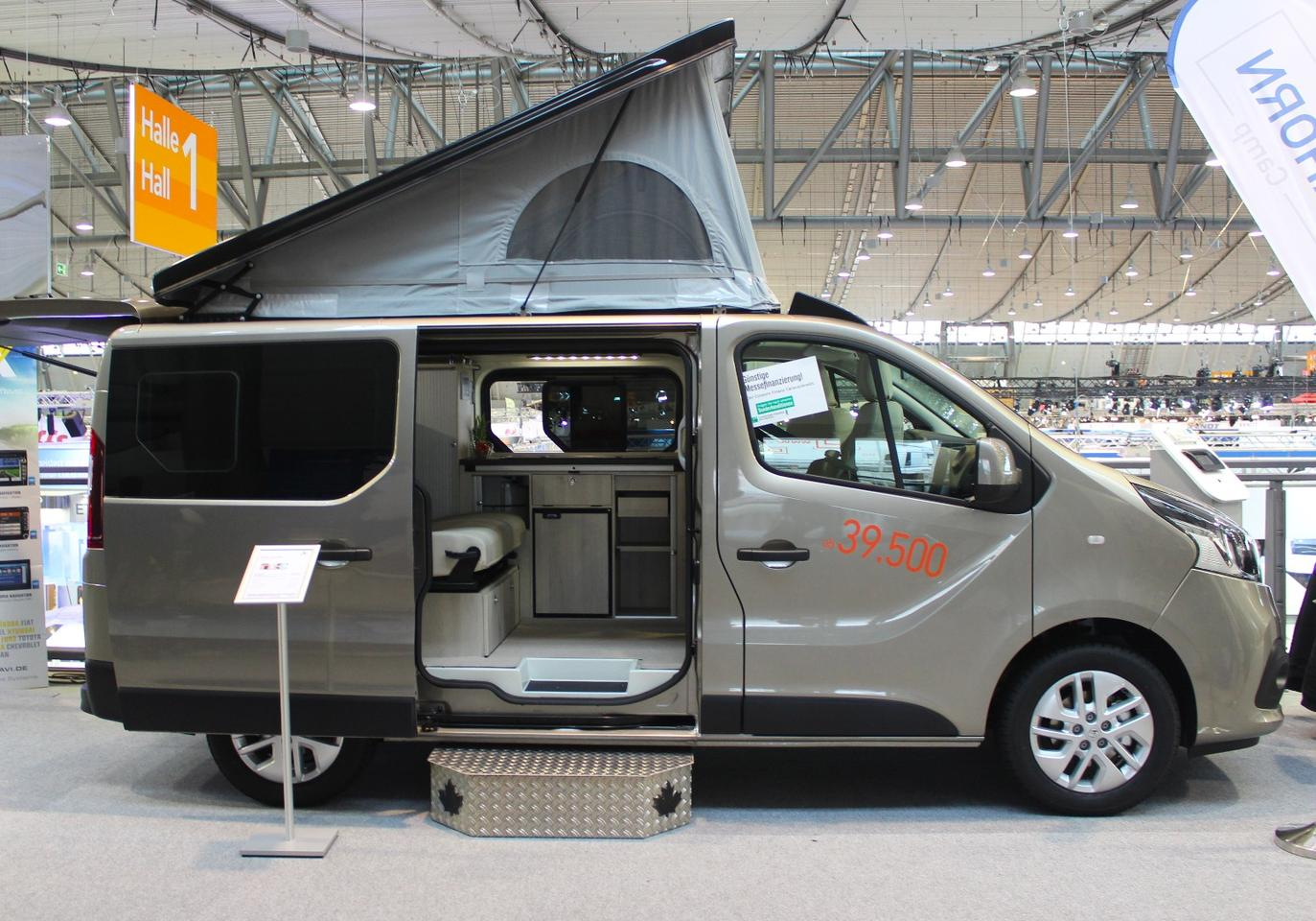 A simple but functional camper, the pop-top Ahorn Van City's advertised base price is €39,500, but this model was optioned up to €47,990