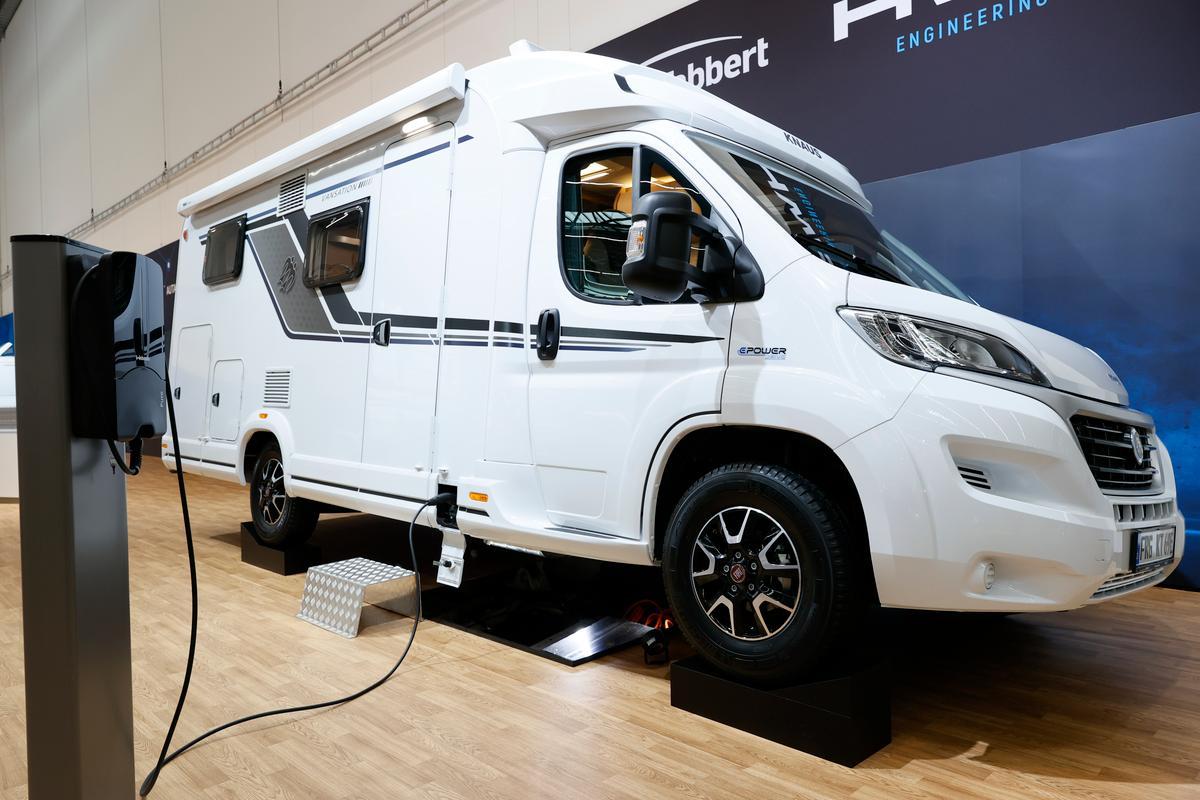 Knaus shows the E.Power Drive at the 2021 Caravan Salon