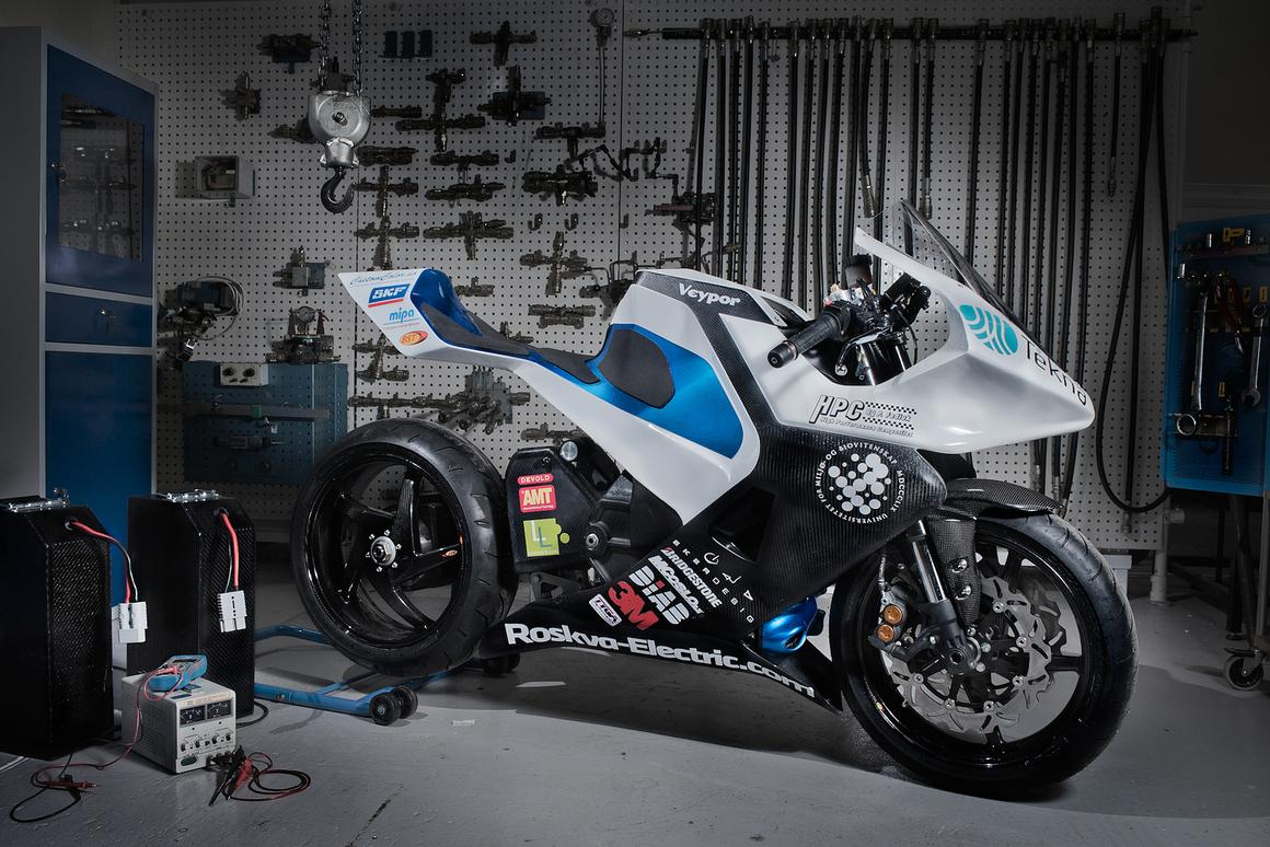 Five Norwegian engineering students from the University of Life Sciences in Oslo have designed and launched an electric motorcycle featuring a lightweight carbon fiber frame and capable of zooming to a top speed of 110 mph