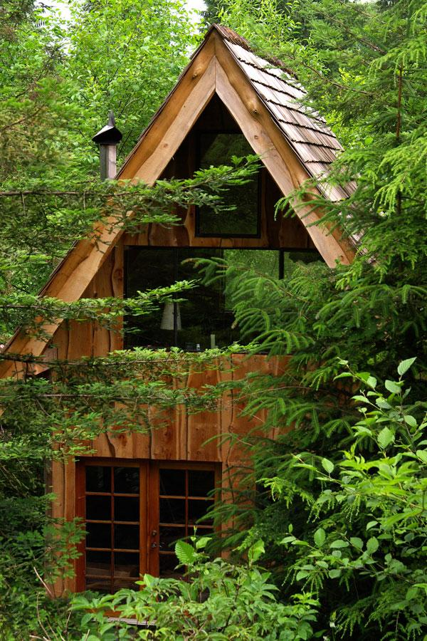 Oregon boat builder, Brian Schulz has put his carpentry skills into building his very own tiny home in the woods