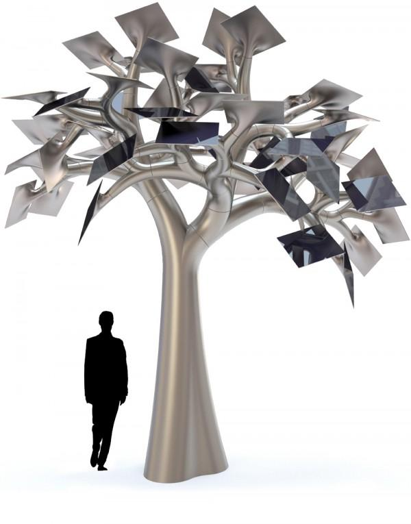 The Electree City concept would combine sculptural beauty with renewable solar electricity