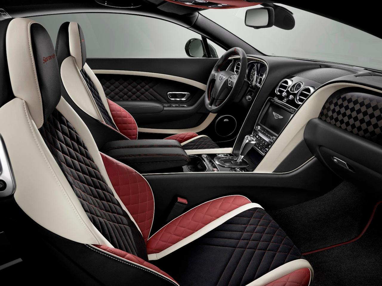 The new Bentley Continental Supersports interior features liberal dashings of Alcantara