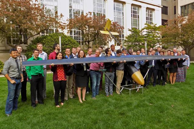 The entire team that developed this new UAV design