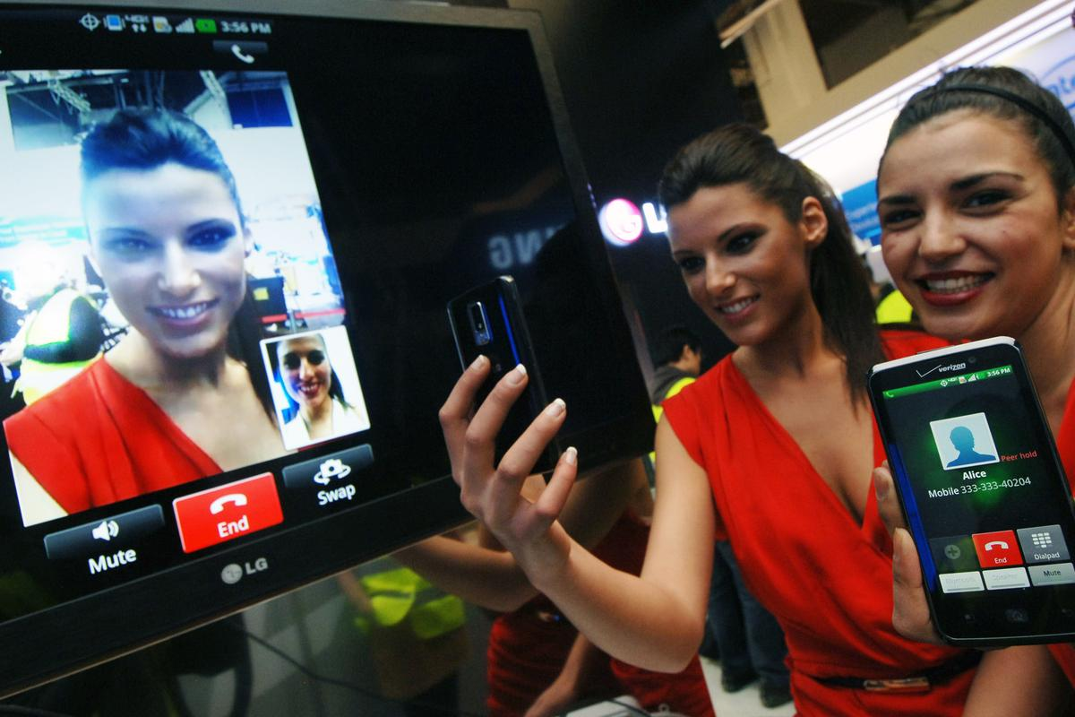 LG demonstrated seamless switching from voice to video chat over an LTE network at MWC 2012