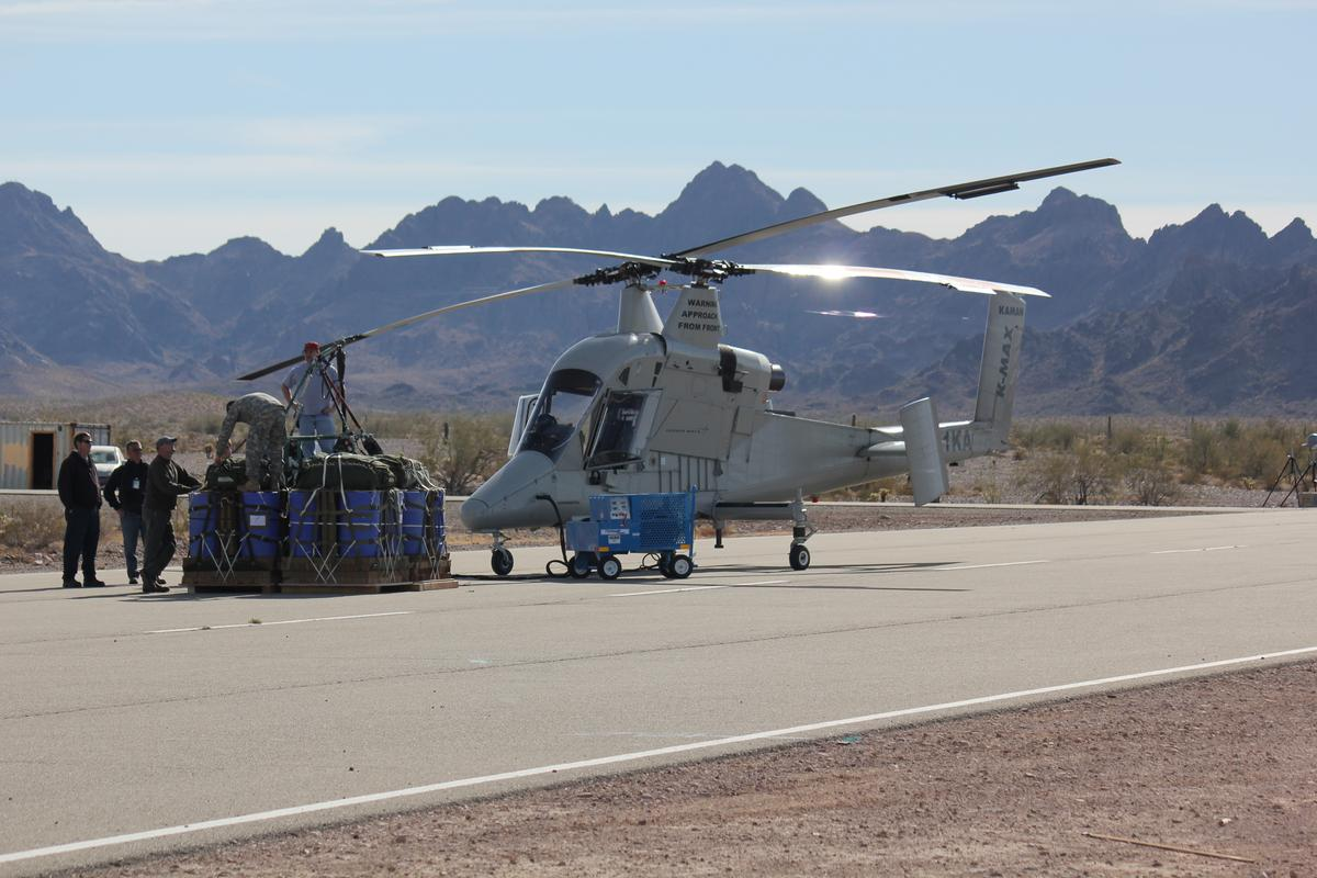 K-MAX unmanned helicopter sets payload record (Photo: Lockheed Martin)