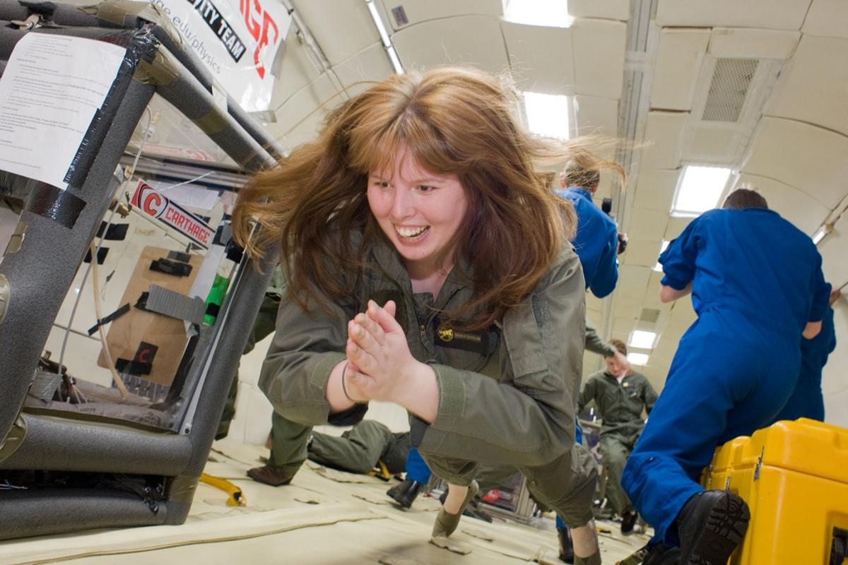 A passenger on board an existing zero-gravity flight service (Photo: Carthage College)
