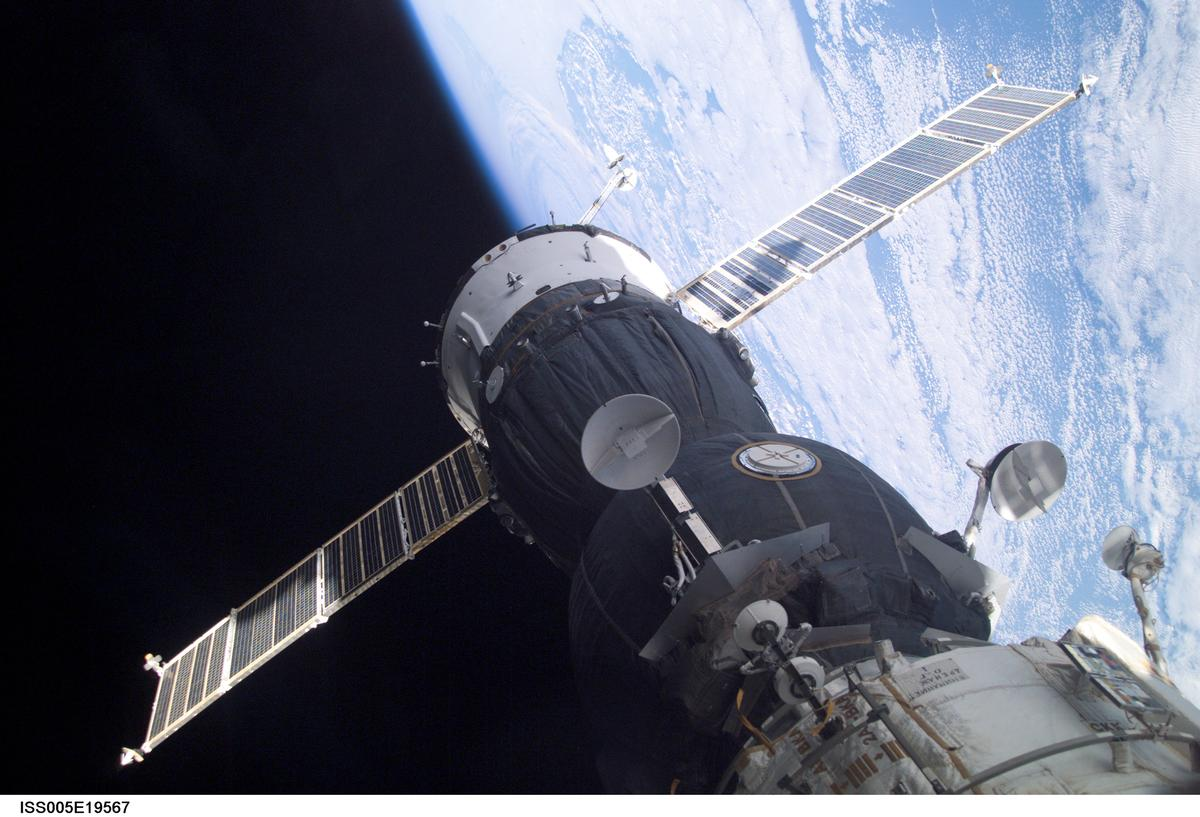 The Soyuz-TMA capsule docked with the International Space Station (Image: NASA)