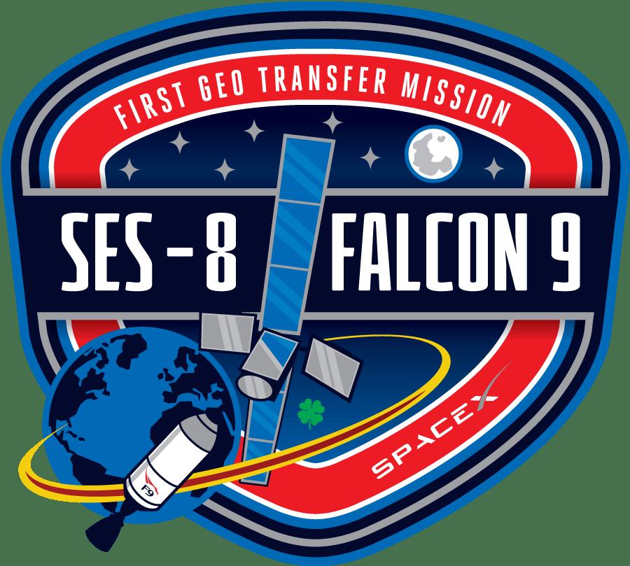 SES-9 mission patch
