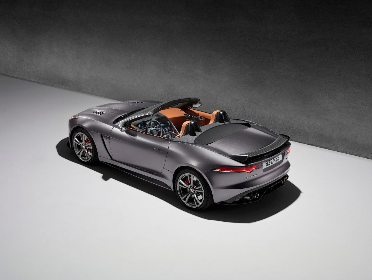 The Jaguar F-Type SVR shown as a convertible