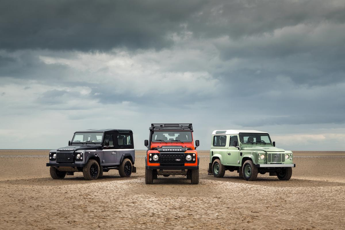 Land Rover celebrates the final year of the Defender with three special edition packages