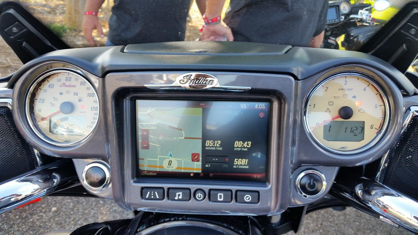 The Ride Command System provides single and dual screen views of a multitude of information and functionality
