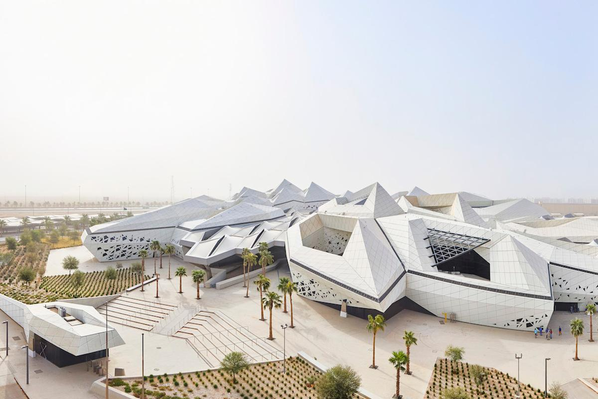 KAPSARC is Zaha Hadid Architects' first project to be awarded LEED Platinum (a leading green building standard)