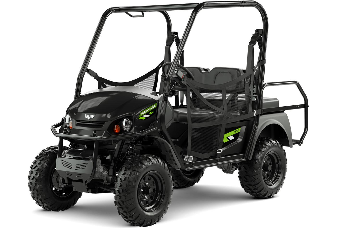 The 2018 Textron Off-Road Prowler EV in solid black color
