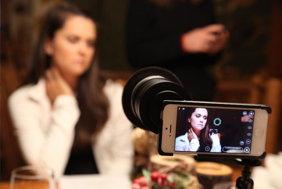 Uneasy Lies the Mind was shot on an iPhone 5, using cinema-quality lenses