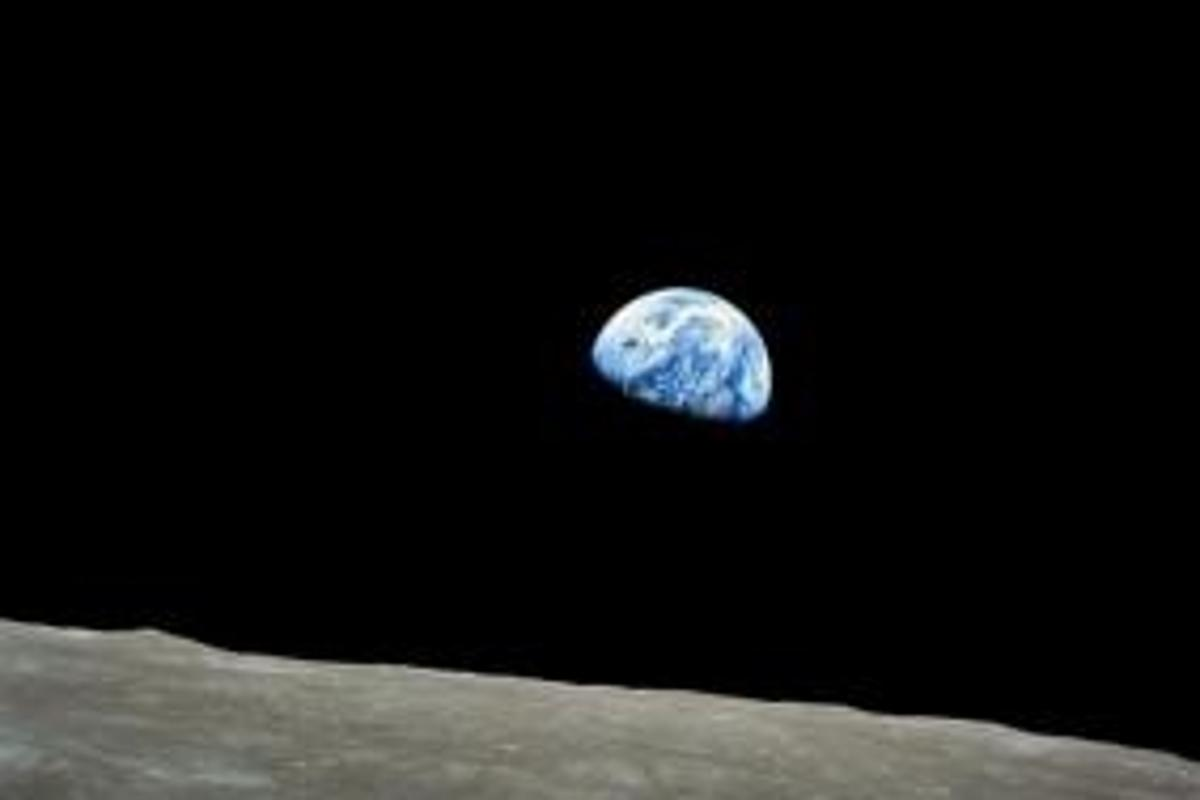 Photograph taken from the Moon's surface during the Apollo 8 mission. Photo: NASA