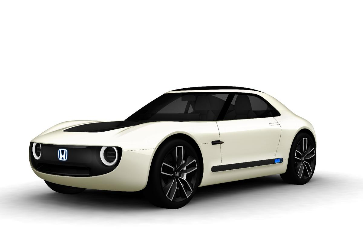 The Honda Sports EV Concept combines electric vehicle performance with artificial intelligence