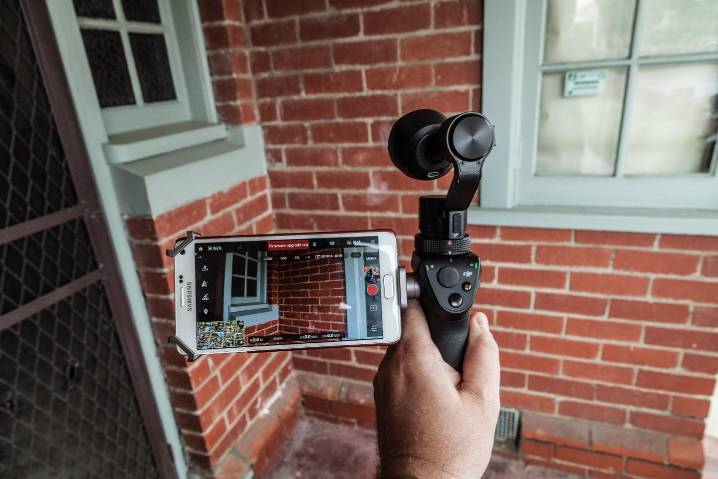 DJI's Osmo - three axis stabilization gives you smooth action shots. Or very smooth shots of brick walls.