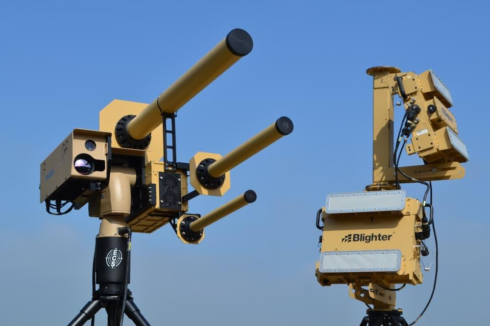 The Anti-UAV Defense System (AUDS) is capable of picking out threats up to 6 mi (10 km) away