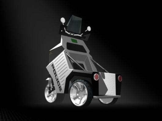 Xtremegreen's three-wheeled Police Mobility Vehicle