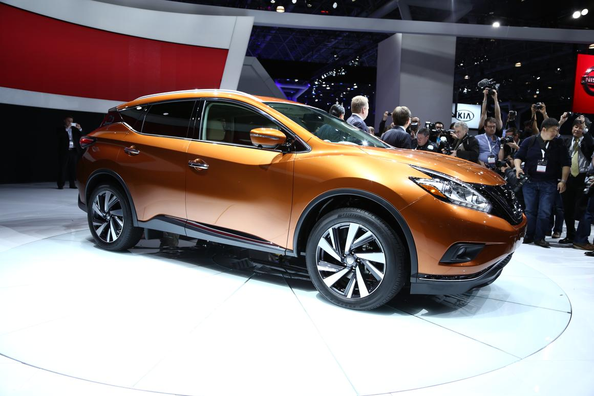 The 2015 Nissan Murano, spotted by Gizmag at the 2014 New York International Auto Show (Photo: Angus MacKenzie/Gizmag)