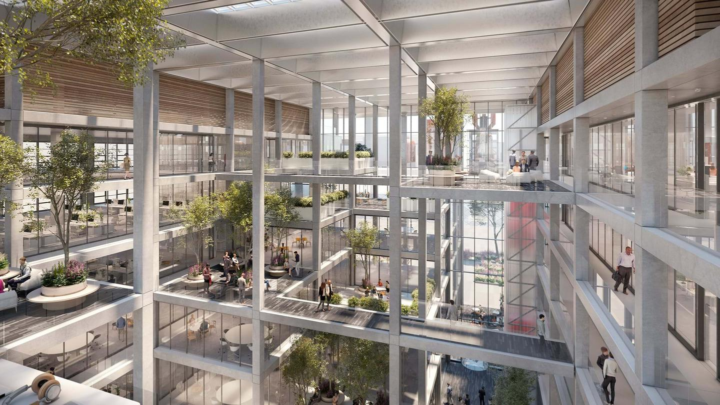 The Icône's interior will include lots of trees and other greenery
