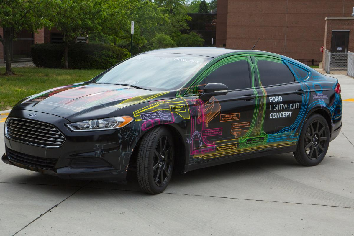 Ford's Lightweight Concept vehicle based on the Fusion weighs less than a Fiesta