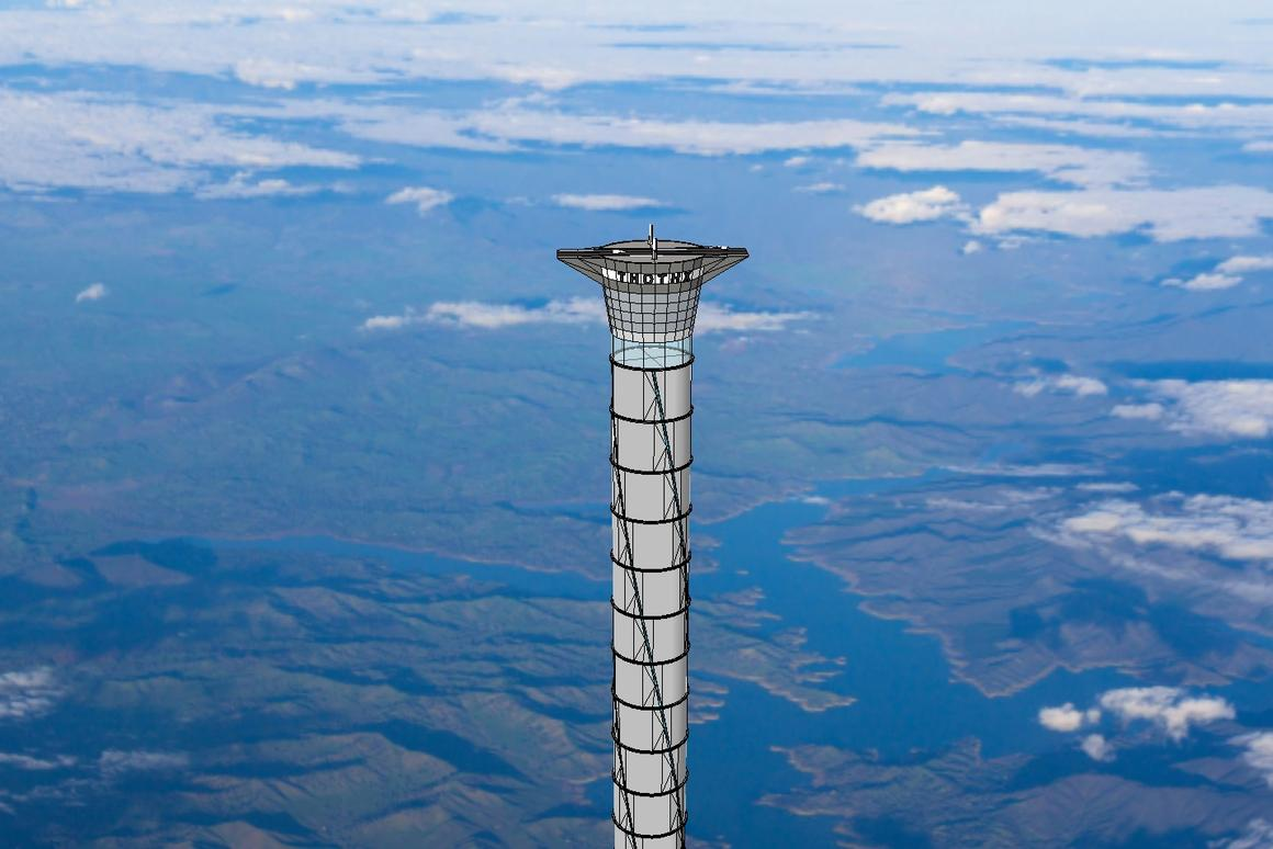 The Thothx inflatable space tower would extend to 20 km above the Earth's surface