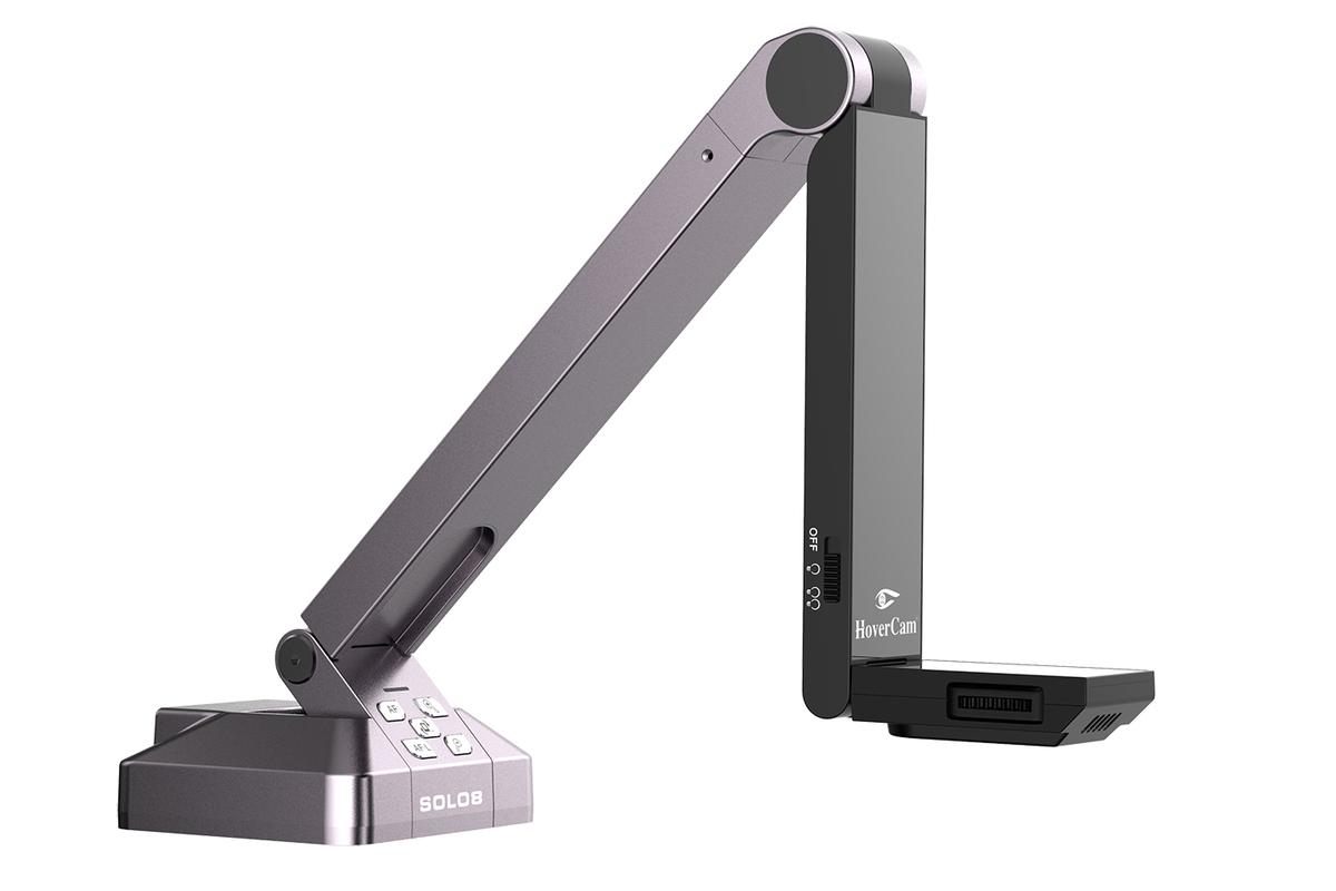 The HoverCam Solo 8 Document Scanner features ultra HD 4K resolution, full motion (30 fps) recording, high speed USB 3.0 connectivity