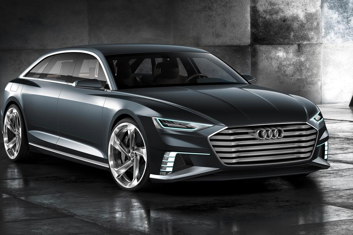 Audi's singleframe grille sits low and wide on the Avant prologue