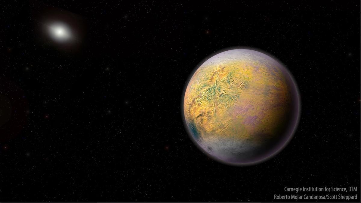 An artist's impression of Planet X, a hypothetical Super-Earth that lurks at the fringes of the solar system