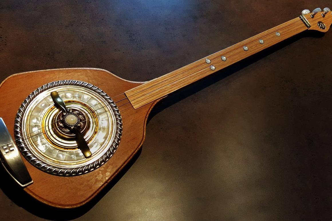 Turning junk into funk: Guitars made from things found