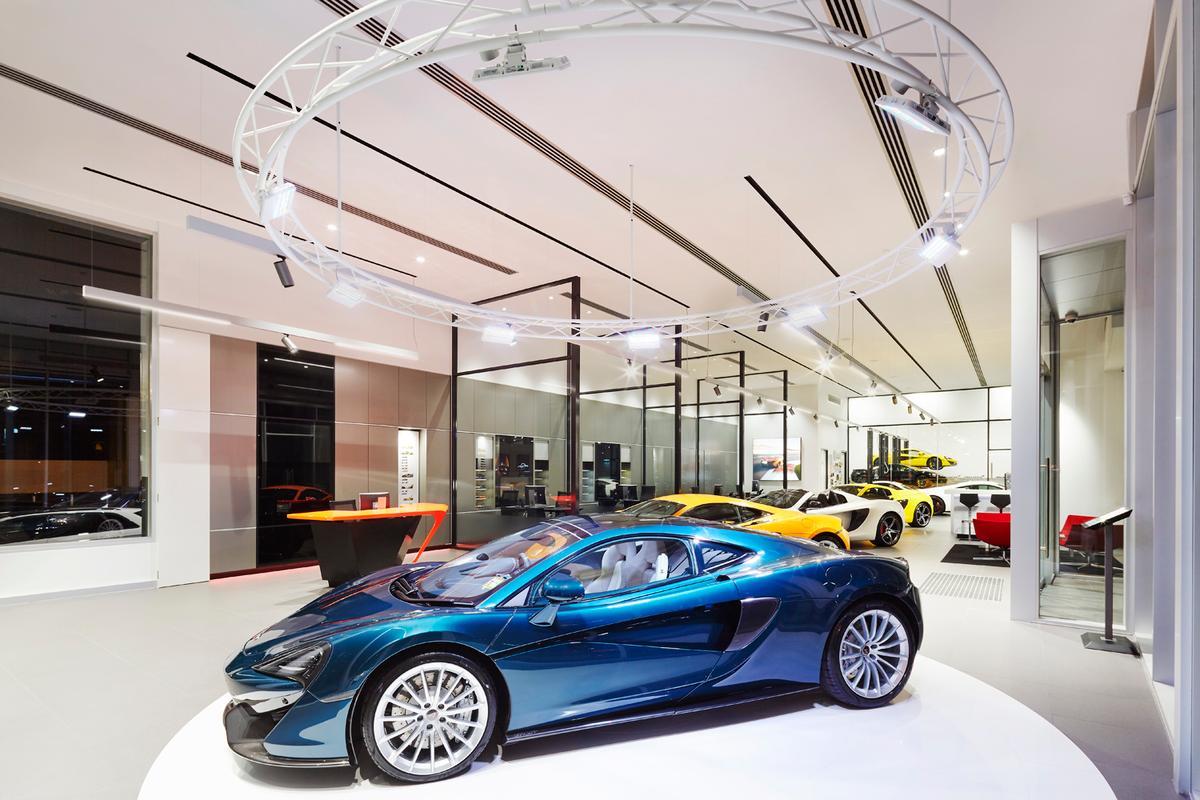 The 570GTsitting in the new McLaren Melbourne dealership