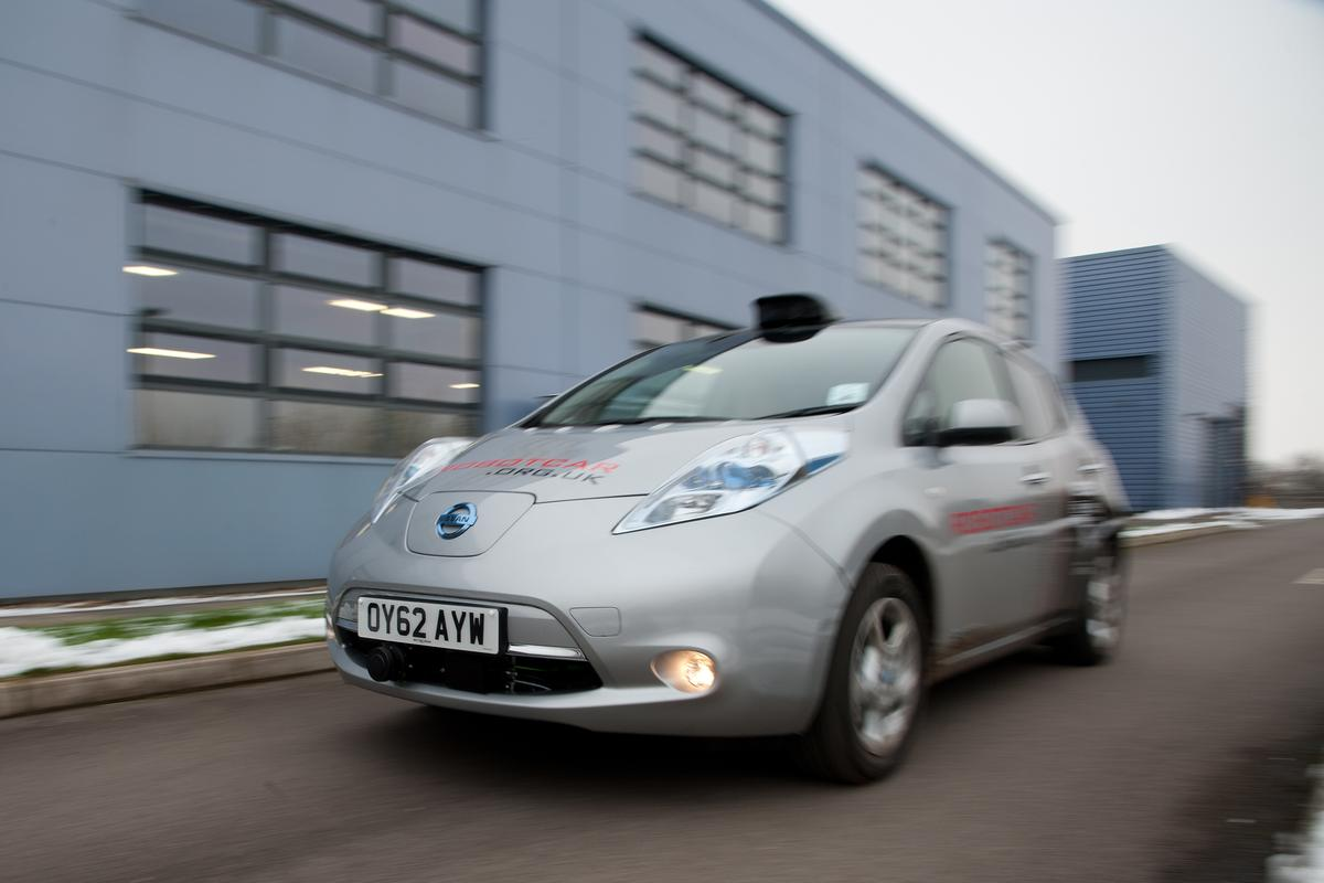 An autonomous car being tested in the UK