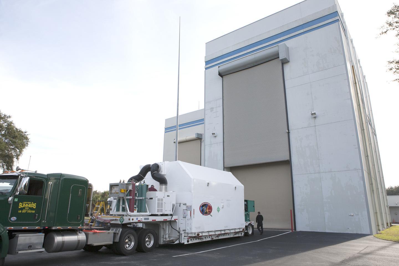 DSCOVR arrives in Florida (Photo: NASA/Kim Shiflett)