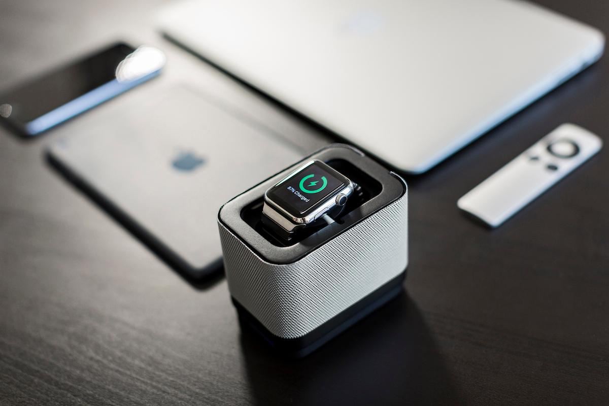 The Unity Pocket has a secure, swiveling function so users can adjust the viewing angle on their Apple Watch