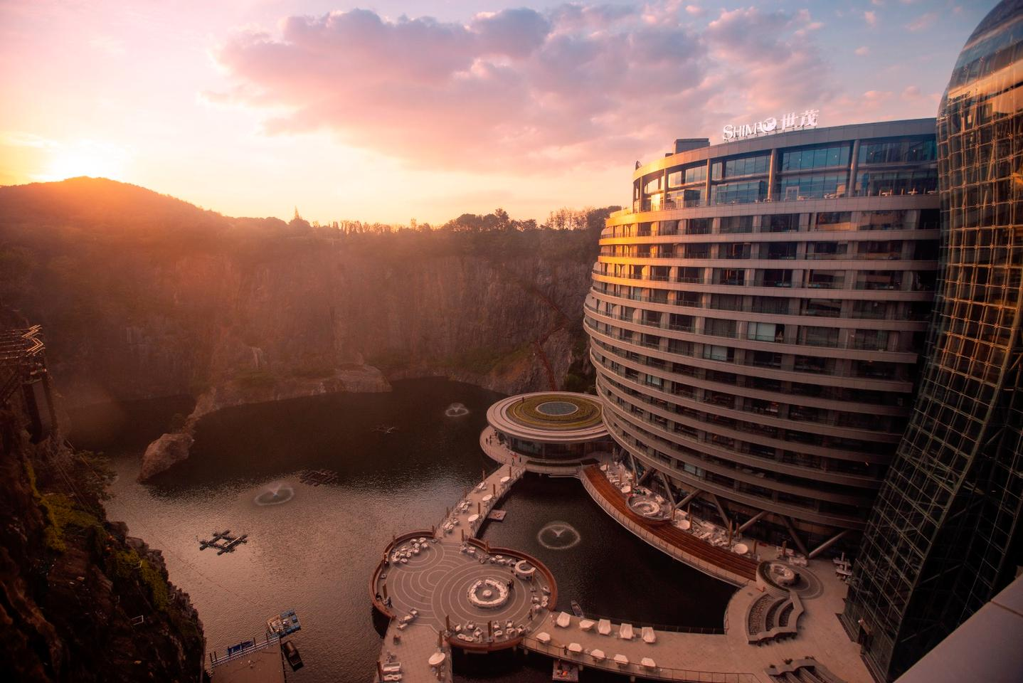 The Shimao Wonderland Intercontinental Hotel is located in Songjiang , Shanghai, China
