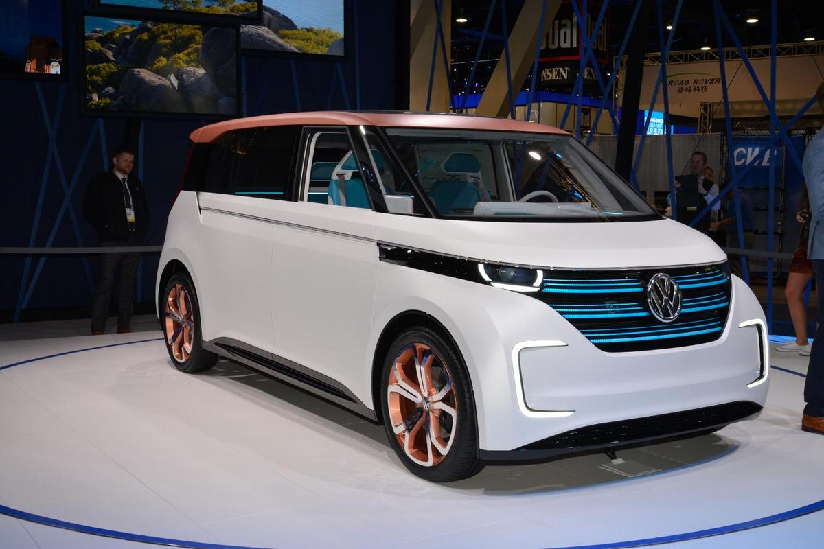 World premiere of the Volkswagen Budd-e concept at CES 2016