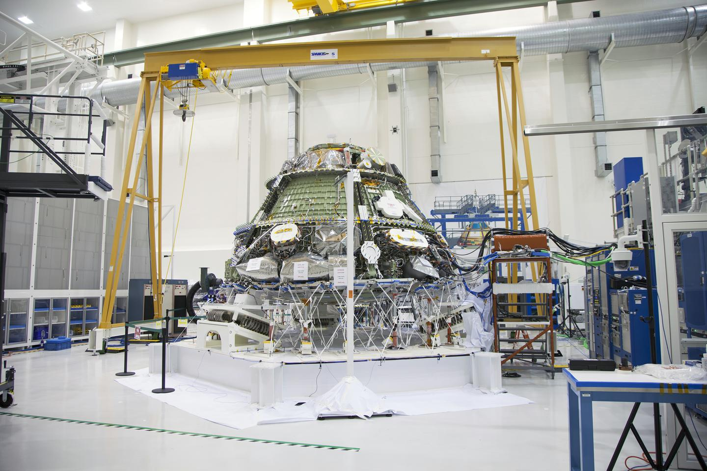 The Orion crew module has been comprehensively vibration tested to ensure that it could survive the rigors of EFT-1 (Photo: NASA, Daniel Casper)