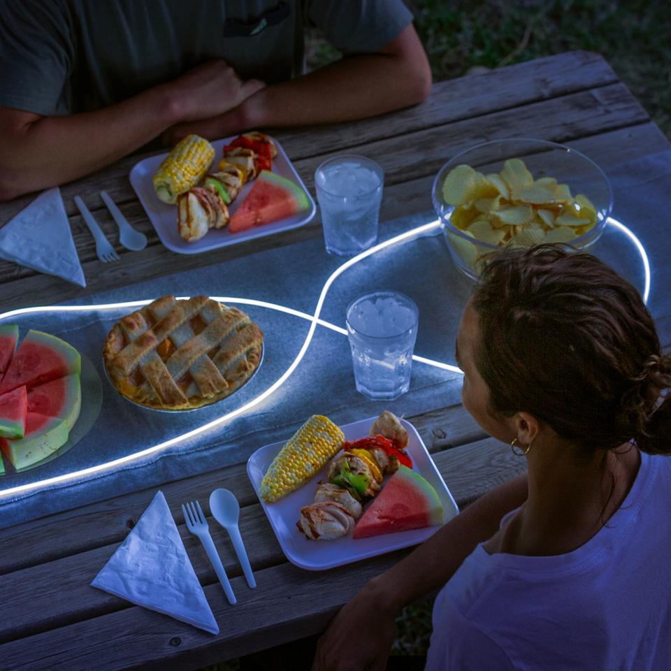 The Nite Ize Radiant ShineLine lights up picnic tables or campsites